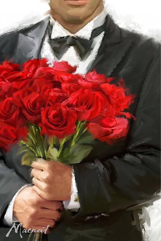 Смешно, открытки парень дарит цветы