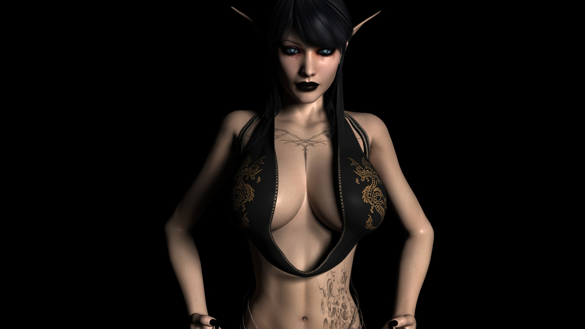 Hot 3d warcraft elves exposed comic