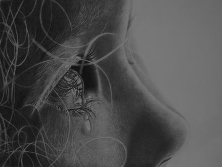 Фото Девочка со слезой на лице, by Paul-Shanghai