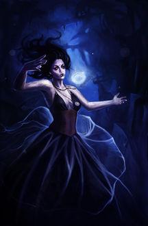Фото Темноволосая девушка в черном платье, by acidlullaby