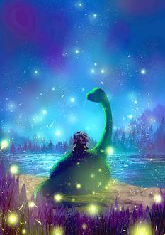 Фото Арло и Дружок из мультфильма Хороший динозавр / The Good Dinosaur
