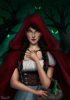Фото Девушка в образе Красной шапочки, by Thorlat