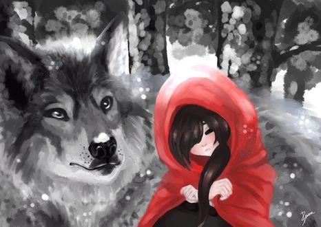 Фото Красная шапочка и волк, by YinnYinn