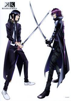 Фото Поединок на мечах между Kuroh Yatogami и Yukari Mishakuji из аниме K projeck: Return of Kings / Проект К: Возвращение королей