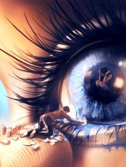 Фото Парень у глаза девушки, ву Aquasixio