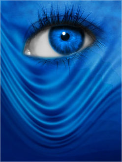 Фото Голубой глаз девушки, by Fire-Bolt