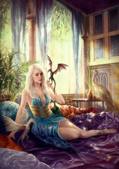 Фото Дейенерис Таргариен / Daenerys Targaryen из сериала Игра престолов / Game of Thrones, by DjamilaKnopf