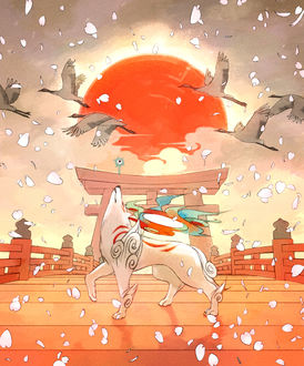 Фото Amaterasu / Аматэрасу из игры Okami