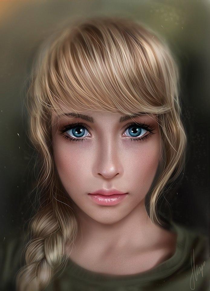 Девушки фэнтези с голубыми глазами