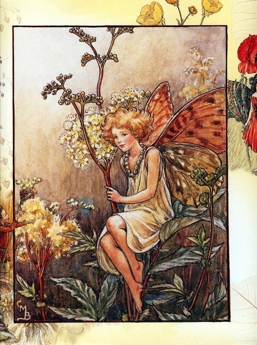 Фото Уставшая эльфийка присела отдохнуть на цветок