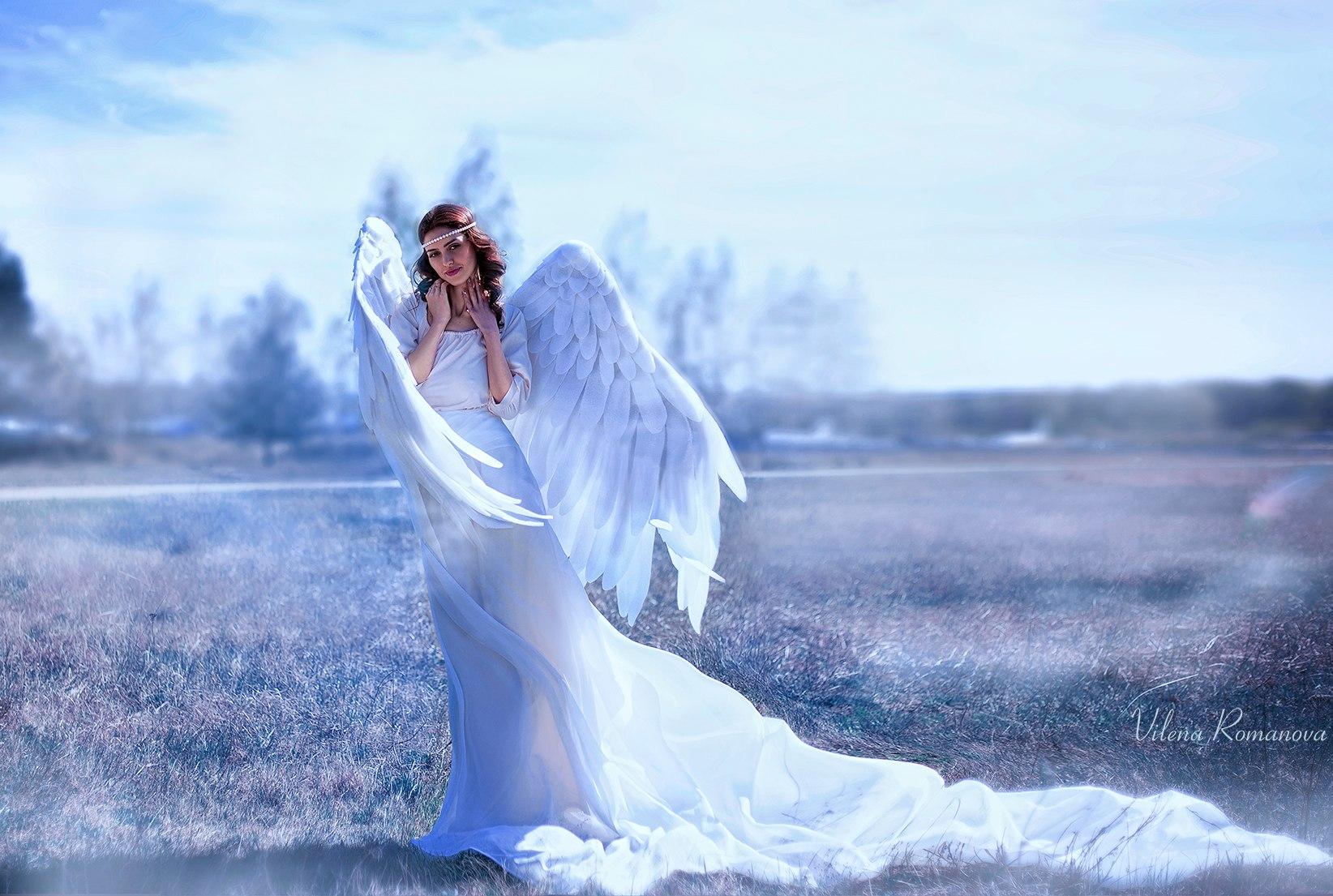 Красивые картинки с ангелами девушками