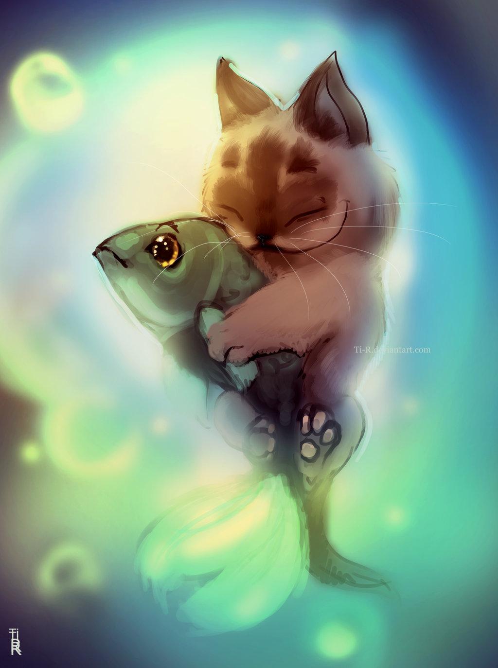 подобные мероприятия картинка котика с рыбками побыл
