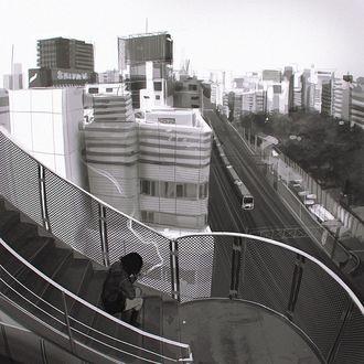 Фото Девушка сидит на лестнице, by Kuvshinov Ilya