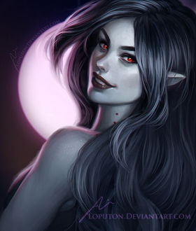 ���� ��������, �������� �������� / Marceline the Vampire Queen �� ������������ Adventure Time / ����� �����������, by Loputon