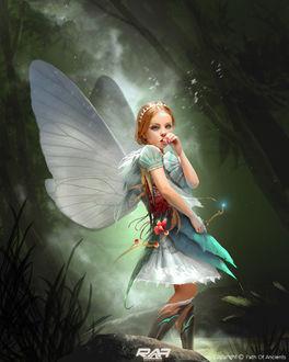 Фото Маленькая фея держит в руке волшебную палочку, by TheRafa