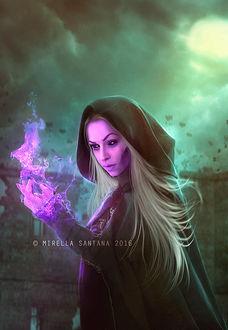 Фото Девушка с магией в руках, by MirellaSantana