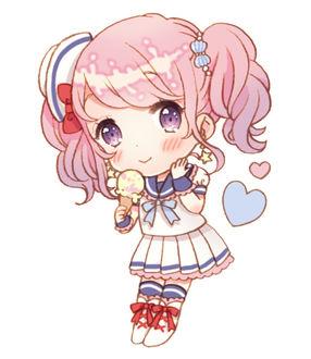 Фото Девочка в костюме моряка и с мороженым