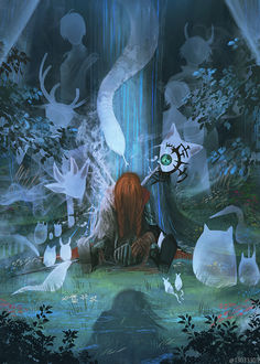 Фото Мертвый рыцарь в окружение духов