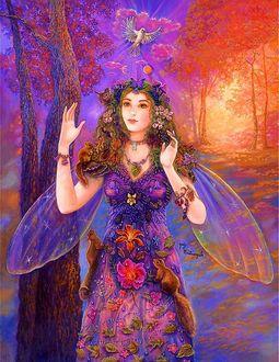 Фото Фея волшебного мира в розовых тонах, художница Judy Mastrangelo