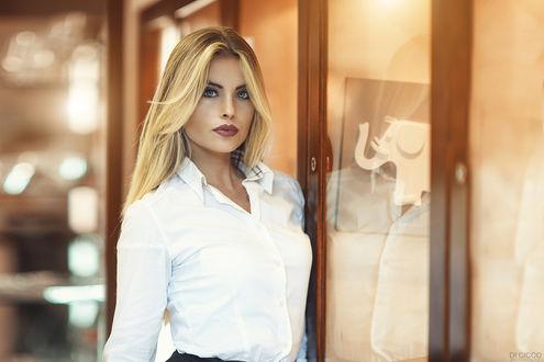 Фото Девушка стоит у шкафа, by Alessandro Di Cicco