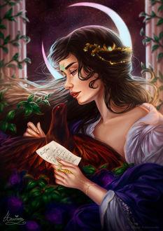 Фото Девушка читает письмо, by Amourinette