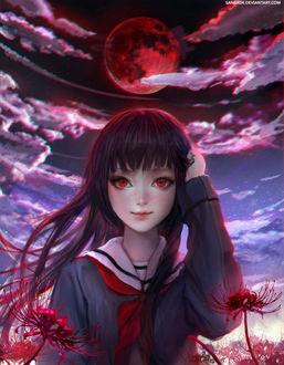 Фото Ай Энма / Ai Enma из аниме Адская девочка / Jigoku Shoujo, by Sangrde