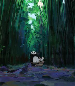 ���� �� / Po � ������ ���� / Master Shifu �� ����������� ����-�� ����� / Kung Fu Panda � ���������� ����, by snatti