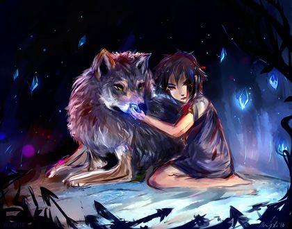 Фото Девочка с волком, by Velsinte