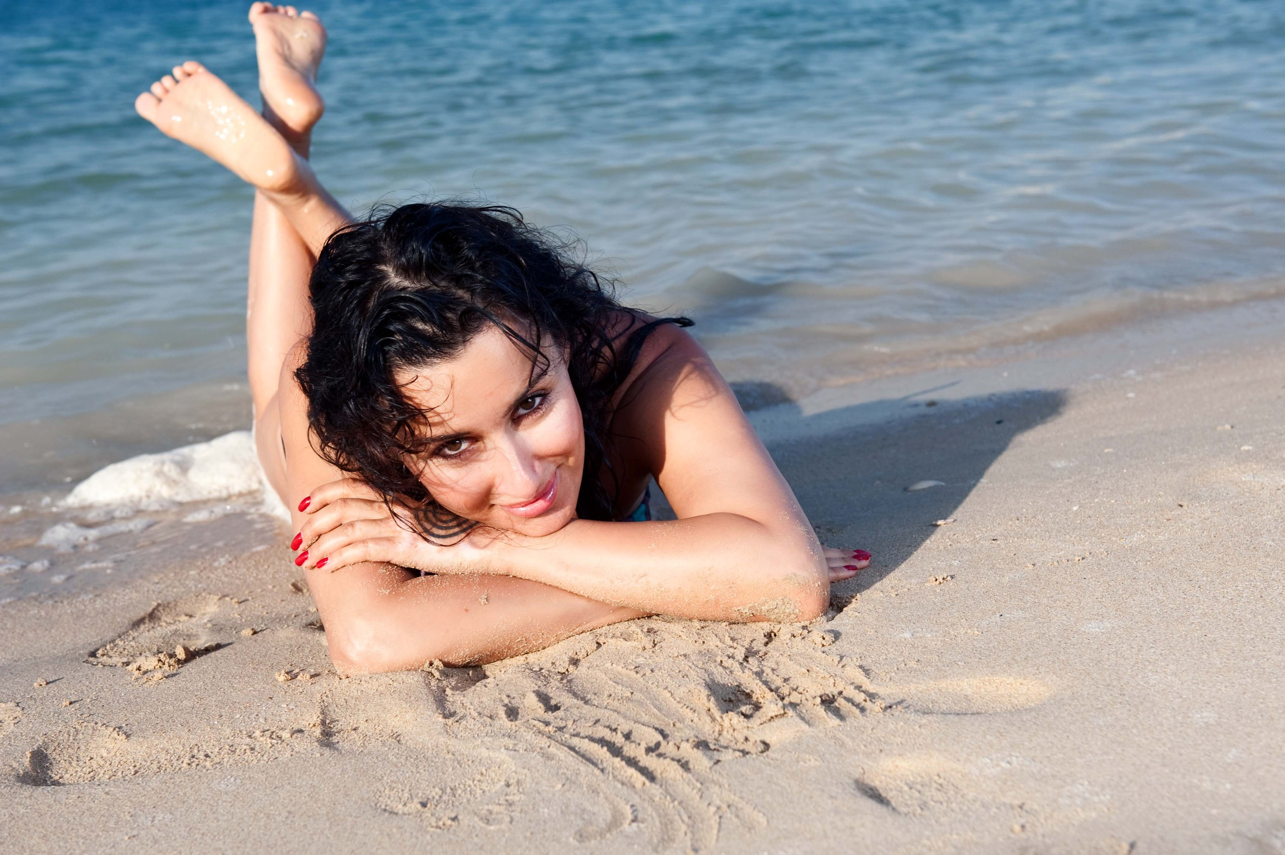 Фото тины канделаки на пляже