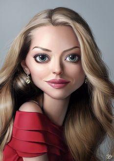 Фото Девушка с большими глазами и длинными светлыми волосами, SB