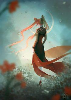 ���� ������ ���� / Black Lady / ������� / ������� / Chibiusa �� ����� ������ ��� / Sailor Moon, by Nicole Altenhoff Artwork