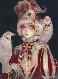 Фото Девушка с птицами, by ramuramu