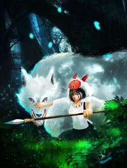 ���� Princess Mononoke / ��������� �������� � ������-������� Moro / ���� �� ����� Princess Mononoke / ��������� �������� / Mononoke Hime