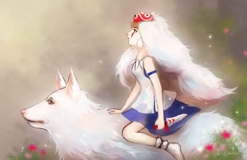 ���� ��� / San � ������-������� Moro / ���� �� ����� ��������� �������� / Princess Mononoke � ���� �����, by Aikuwo