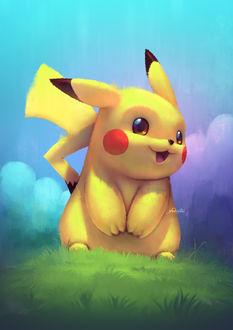 Фото Пикачу / Pikachu из аниме Покемон / Pokemon, by yoshiyaki
