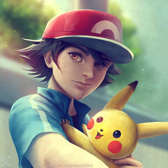 Фото Ash Ketchum / Эш Кетчум и Пикачу / Pikachu из аниме Покемон / Pokemon, by EternaLegend