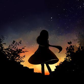 Фото Силуэт девушки на фоне неба, by locoberi