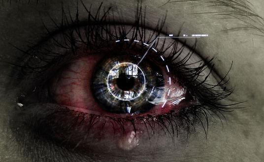 Фото Красный глаз со слезами, иллюстрация от by tvlookplay