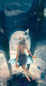 Фото Девушка парит в воздухе, by mohn-blume