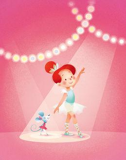 Фото Девочка и мышь танцуют в балетных пачках, by Marie Ecarlat