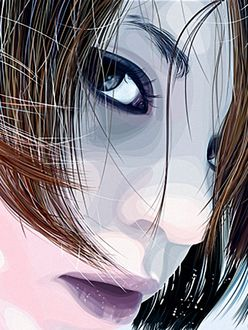 Фото Взгляд красивой девушки из под челки