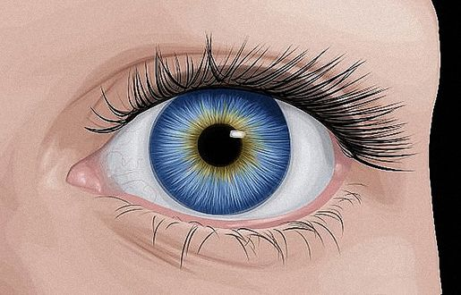 Фото Красивый синий женский глаз, by carolinabarajas