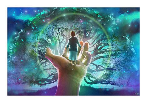 Фото На руке человека стоит ребенок, by AndyFairhurst