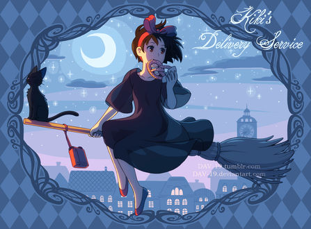 ���� ���� / Kiki � ���-��� / Jiji �� ����� Kikis delivery service / �������� ������ ��������, by DAV-19