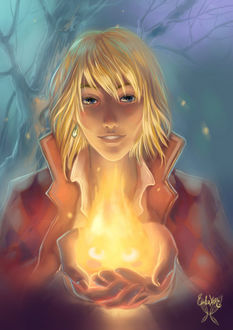 ���� Howl / ���� � Calcifer / ��������� �� ����� Howls Moving Castle / ������� ����� �����, by Erika-Xero