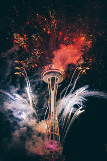 ���� ����� Space Needle / ����� ���� (����������� ����) �� ���� �����������, ��������������������� ������ Seattle / ������ (USA / ���), by Nitish Meena