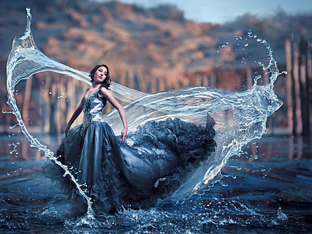 Платье из воды картинки