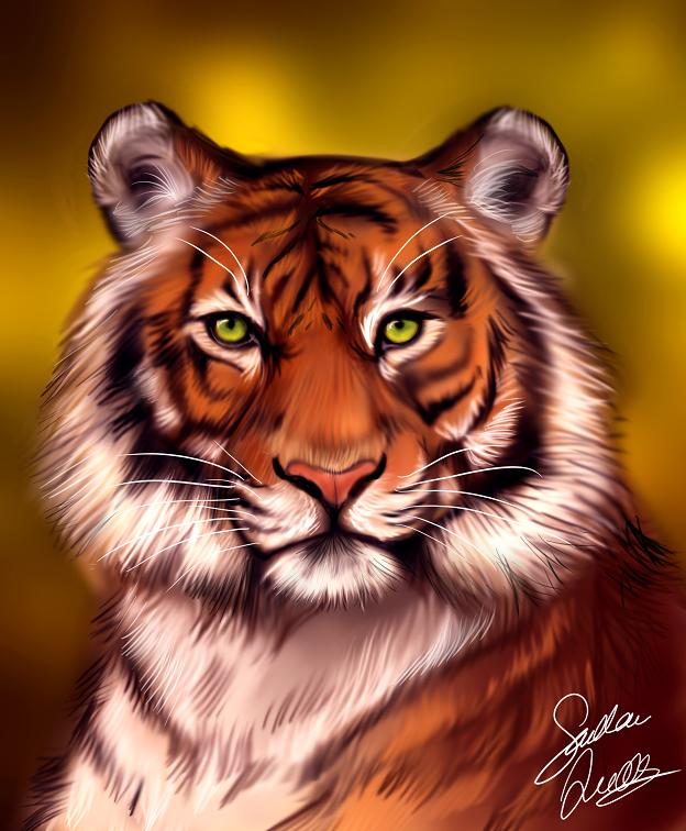 Фото Портрет тигра с зелеными глазами, by TheMysticWolf