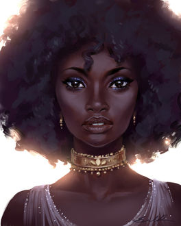 Фото Красивая темнокожая девушка, by Selenada