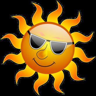 Фото Солнце в темных очках, векторная графика